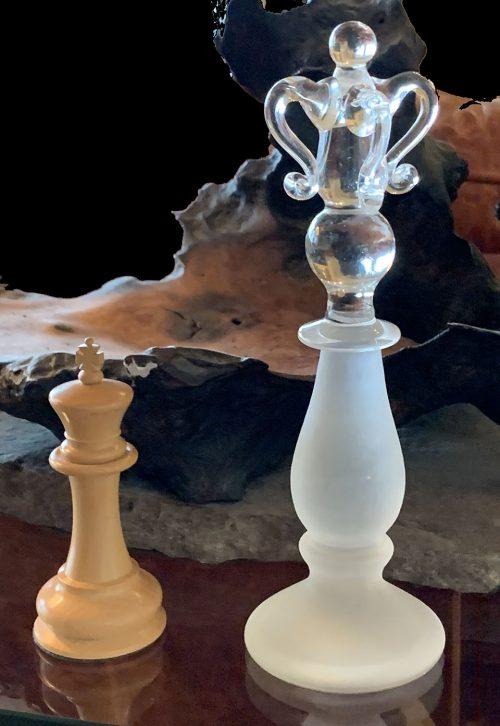 King Edward Albert Steuben Glass Style Chessmen