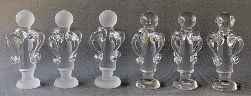 King Edward Albert Steuben Glass Style Chessmen