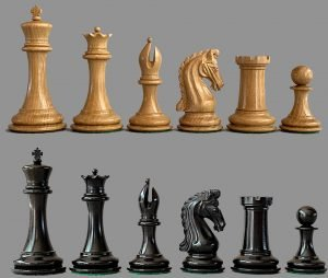 Imperial Collector Series Chessmen, Black Maple and Ebony