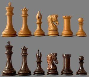 House of Staunton Red Sandalwood Imperial Chessmen