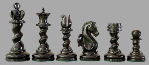 Hippocampus Spiral Chess Pieces