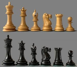 Reproduction Jaques Lasker Club Size Chessmen