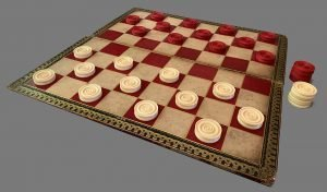 Antique Backgammon Checkers