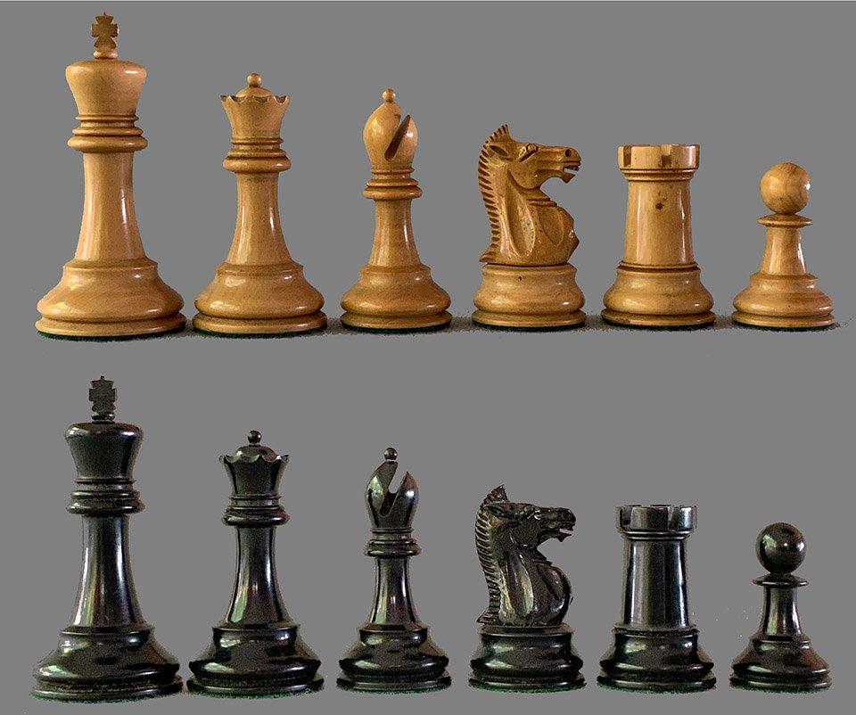 Antique Jaques Nimzowitsch Chessmen