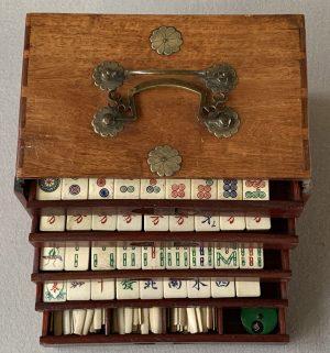 Vintage Japanese Mahjong Set