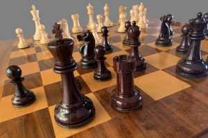 Reykjavik African Blackwood Chessmen