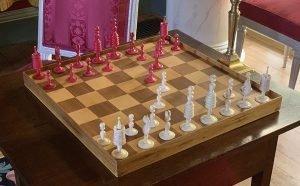Antique Calvert Revolutionary War Chessmen