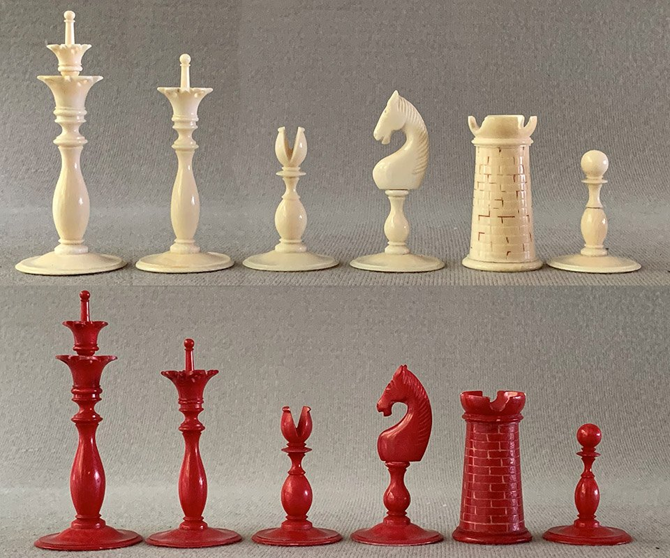 Antique Calvert Revolutionary War Chessmen