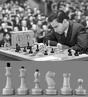Mikhail Tahl Commemorative Chessmen
