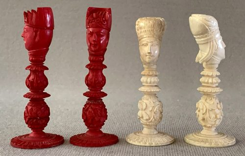 Large Macao Antique Chessmen
