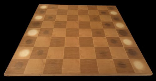 Large French Mahogany Chessboard
