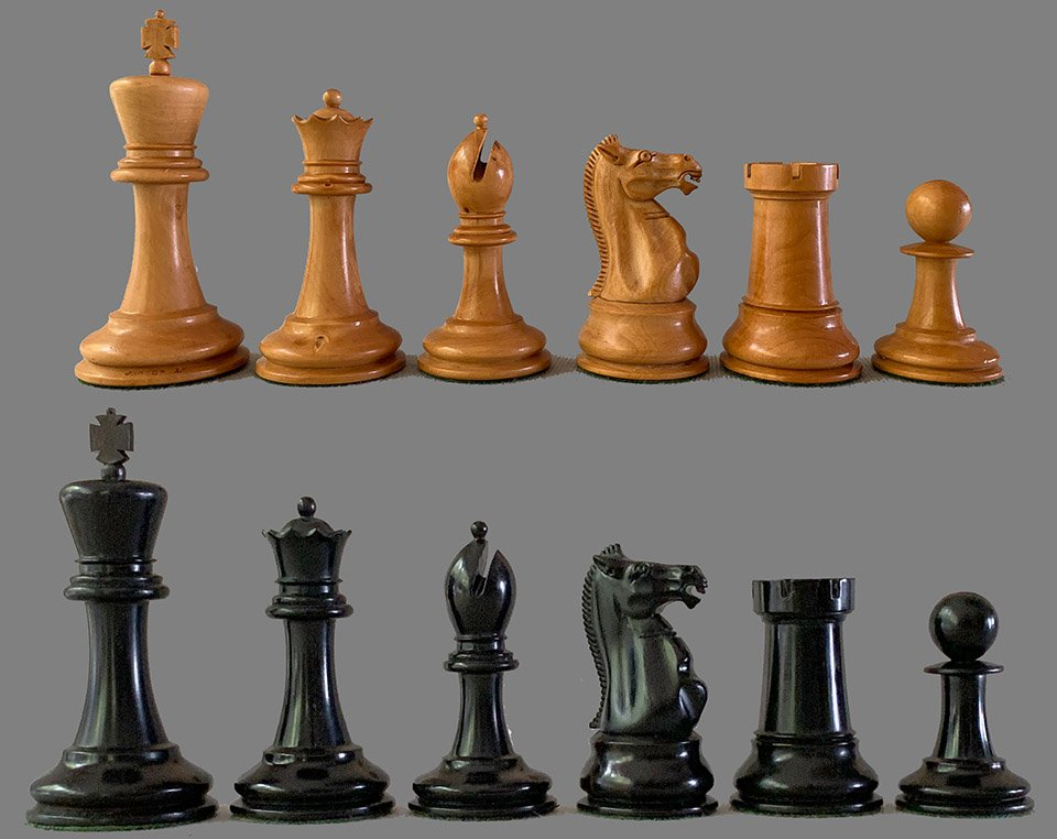 Jaques Antique Hartston Chessmen, Full Club Size