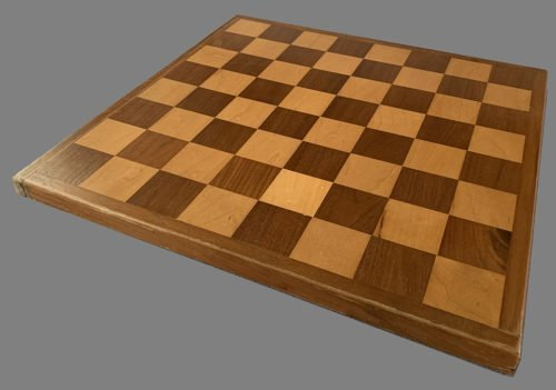 Small Mahogany and Sycamore Chessboard