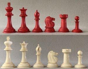 Antique Bone Staunton Chessmen