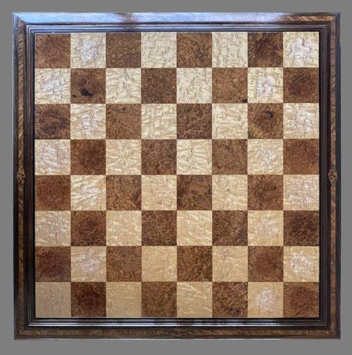 Amboyna Burl Signature Chessboard