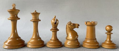 Weighted Jaques Anderssen Chessmen