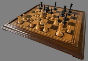 aques Late Anderssen Chessmen, Tournament Size, Weighted