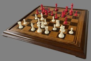Bone Staunton Chess Set