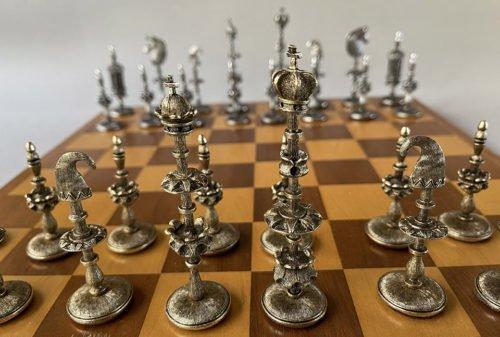 German Selenus Metal Chessmen