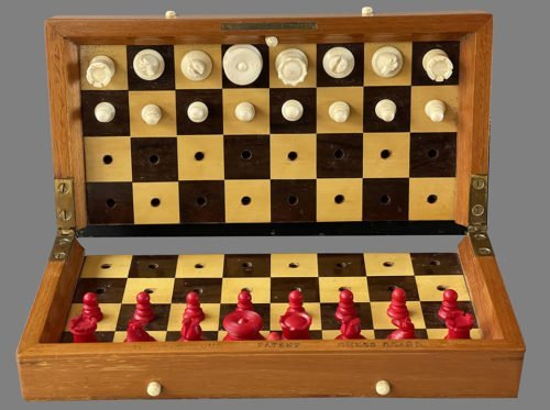 Jaques ISQ Portable Chess Set, Type 1