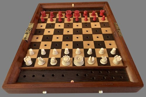 Jaques Status Quo Portable Chess Set