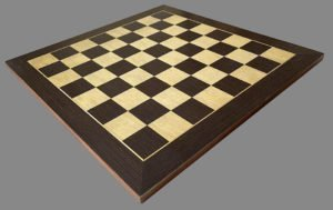 Spanish Rosewood and Maple Chessboard by Ferrer of Spain