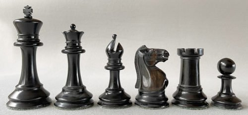 Early Jaques Zukertort Club Size Chessmen, Circa 1870