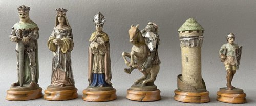18 Carat Gold Anri Montsalvat Chess Set