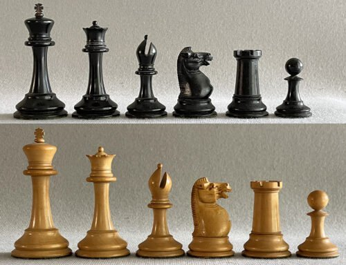 Jaques Early Anderssen Chessmen, Tournament Size