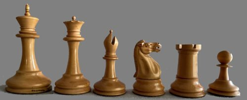 Jaques Late Anderssen Chessmen, Tournament Size, Weighted