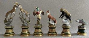 Franklin Mint Sportsman Trophy Chess Set