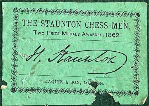 Jaques Steinitz Chessmen, Tournament Size. Circa 1865