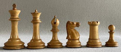 Jaques Tournament Steinitz Chessmen, Circa 1865