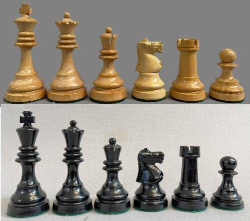 C. H. Bird Antique Chessmen, College Size