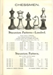 American Chess Company Chessmen