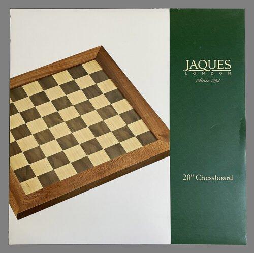 Jaques Mahogany Framed Chessboard, Walnut and Sycamore