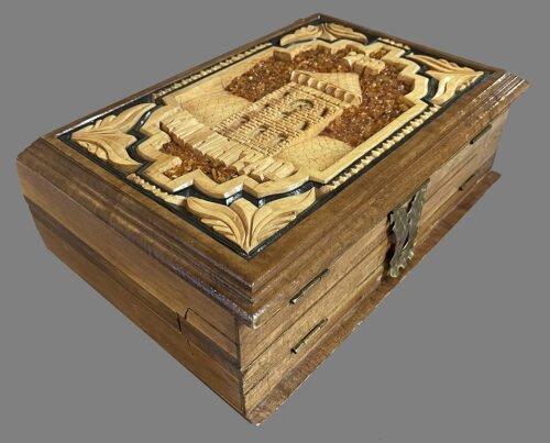Russian Chessmen in an Ornate Board Box