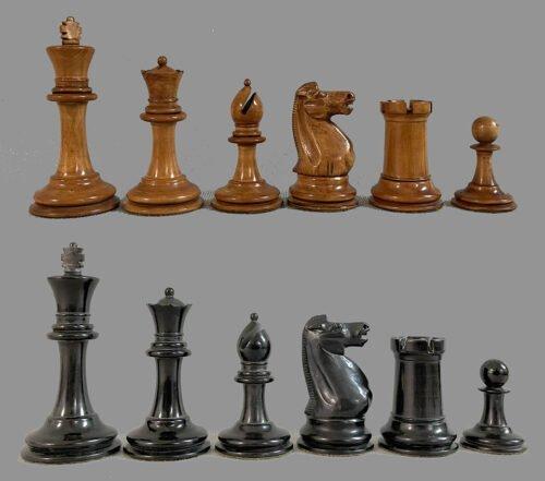 Antique Staunton Tournament Chessmen