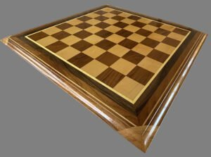 Large Signature Teak and Maple Chessboard
